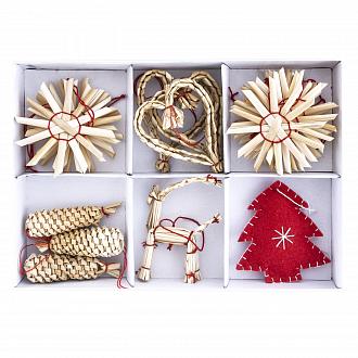 Набор новогодних украшений, 20 шт